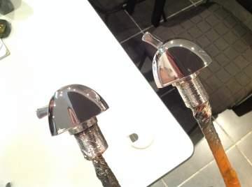 Chromage robinet plomberie pulvérisation