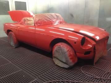 MG B restauration complète rouge 44 Nantes / Châteaubriant