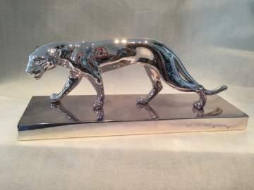 Chromage d'une statuette en bronze et marbre