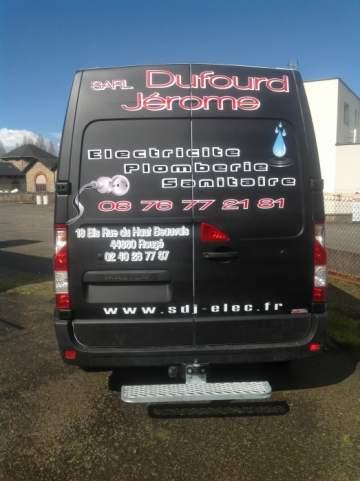 Dufourd Jérome véhicule marquage publicitaire fond peinture 44 Nantes / Chateaubriant