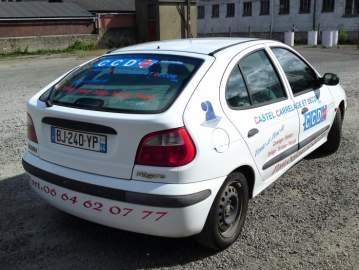 Publicité lettrage sur véhicule