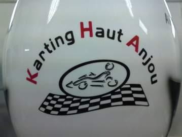 Casque compétition karting aérographie 44 Nantes, St Herblain