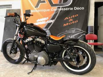 Harley Déco métal & noir brillant