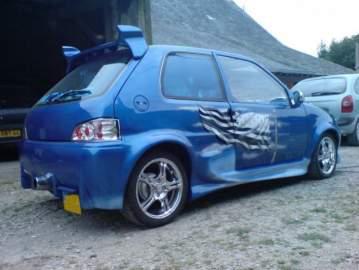 106 Bleue déco drapeau breton