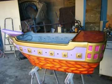 Déco d'un bateau pirate
