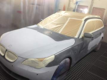 BMW 525 TDS break carrosserie peinture 44 Nantes St herblain