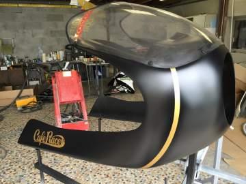 HONDA BOL D'OR Cafe Racer noir mat et or