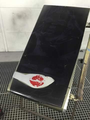 Table basse Marilyn Monroe chrome couleur 44