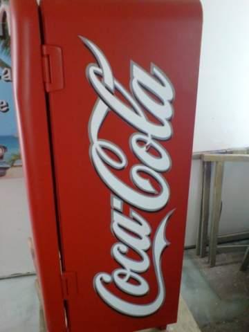 Frigo des années 70 Coca Cola