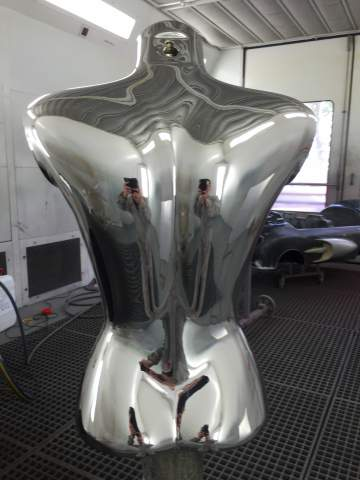 Buste Femme Chrome Argent