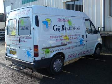 Publicité adhésif Guy Beauchène ford transit