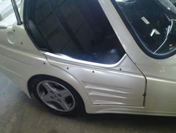 Peinture, réparation side-car
