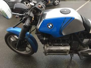 Peinture réservoir BMW CAFE RACER ALU POLY et déco Nantes 44