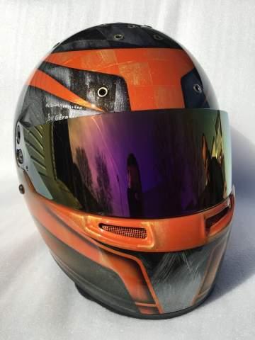 Casque Karting peinture personnalisée