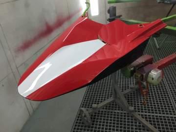 DUCATI MULTISTRADA Peinture et Hydrographie moto Déco Nantes 44