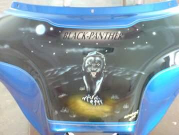 Harley Davidson peinture personnalisé aérographe