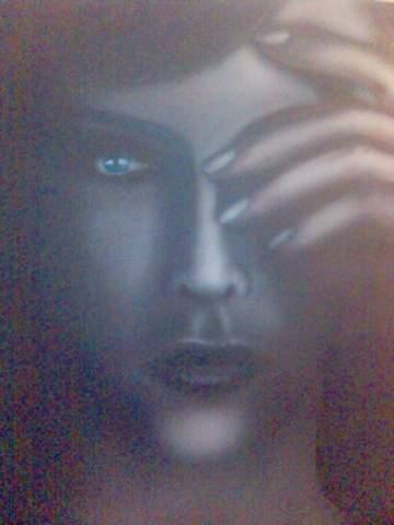 Portrait sur polyester