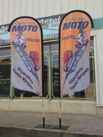 Drapeaux extérieur Challans Moto
