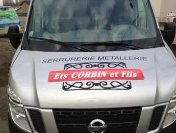 Corbin & fils marquage publicitaire véhicule adhésif 44 Nantes / Châteaubriant